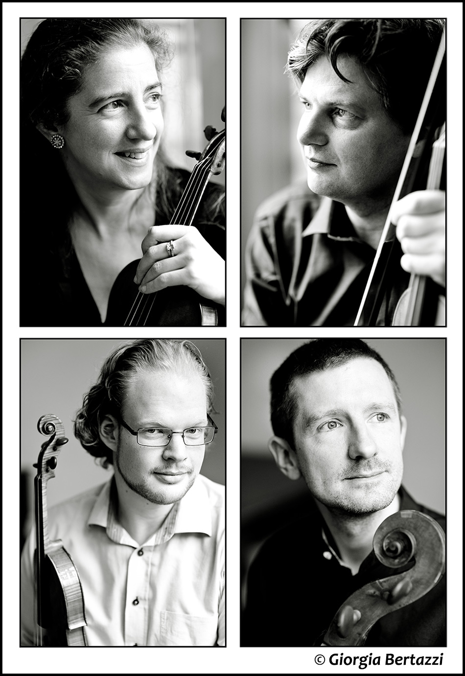 photos of the London Hadyn Quartet by Giorgia Bertazzi