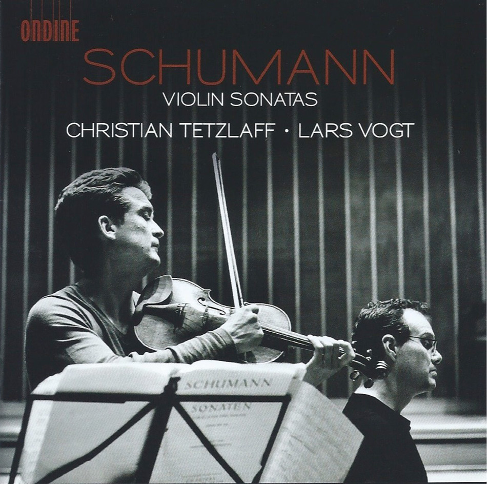 Christian Tetzlaff, Lars Vogt Schumann Violin Sonatas CD cover photographed by Giorgia Bertazzi